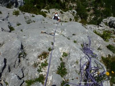 Falaise de Presles; Vercors (Isère); Escalade avec Cap Oupakap Nature